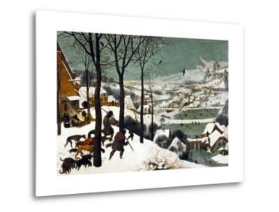 Hunters in the Snow (Winter)-Pieter Bruegel the Elder-Metal Print