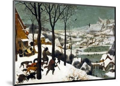 Hunters in the Snow (Winter)-Pieter Bruegel the Elder-Mounted Giclee Print