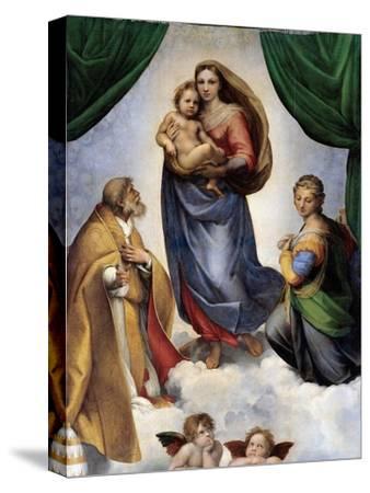 The Sistine Madonna-Raphael-Stretched Canvas Print
