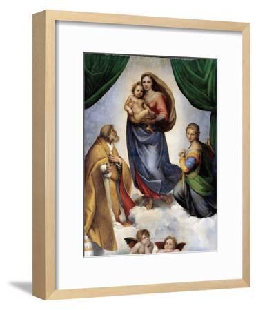 The Sistine Madonna-Raphael-Framed Premium Giclee Print