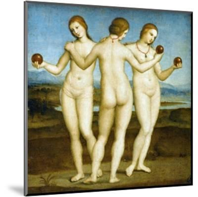 The Three Graces-Raphael-Mounted Giclee Print
