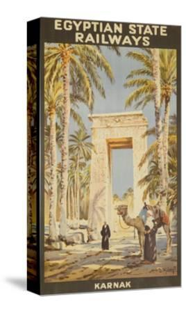 Egyptian State Railways Travel Poster Karnak--Stretched Canvas Print