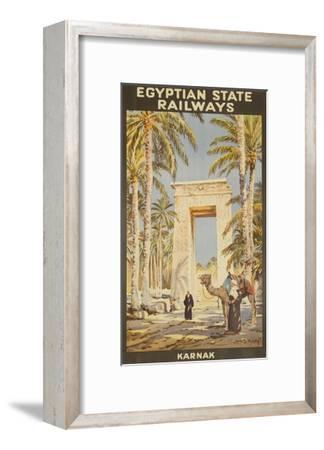 Egyptian State Railways Travel Poster Karnak--Framed Giclee Print