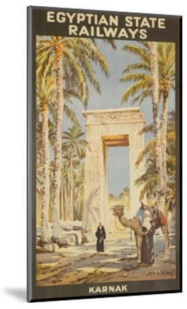 Egyptian State Railways Travel Poster Karnak--Mounted Giclee Print
