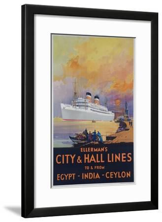 Ellerman's City and Hall Lines Cruise Poster--Framed Giclee Print
