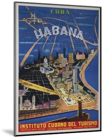 Cuba, Havana, Instituto Cubano Del Turismo, Travel Poster--Mounted Giclee Print