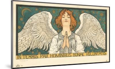 In Terris Pax Hominibus Bonae Voluntatis Postcard--Mounted Giclee Print
