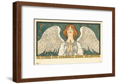 In Terris Pax Hominibus Bonae Voluntatis Postcard--Framed Giclee Print