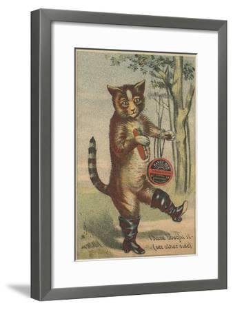 I Have Bought it Handy Box Shoe Blacking Trade Card--Framed Giclee Print