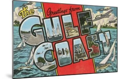 Greetings from the Gulf Coast, Florida--Mounted Giclee Print