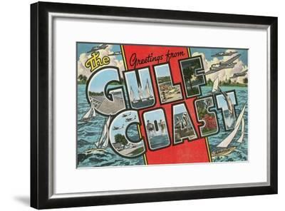 Greetings from the Gulf Coast, Florida--Framed Giclee Print