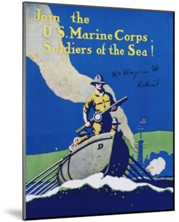 Join the U.S. Marine Corps. Recruiting Poster--Mounted Giclee Print