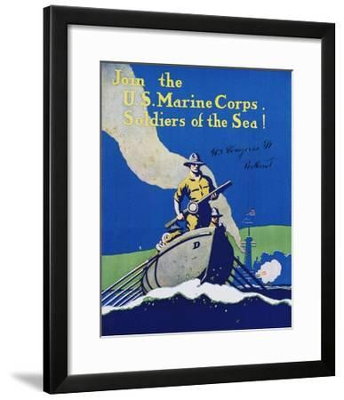 Join the U.S. Marine Corps. Recruiting Poster--Framed Giclee Print