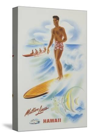 Matson Lines Hawaii Poster--Stretched Canvas Print