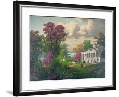 George Washington Arriving at Mount Vernon--Framed Giclee Print