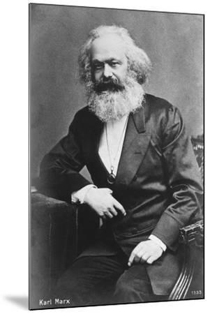 Karl Marx--Mounted Giclee Print