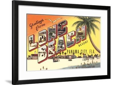 Greetings from Long Beach Resort, Panama City, Florida--Framed Giclee Print