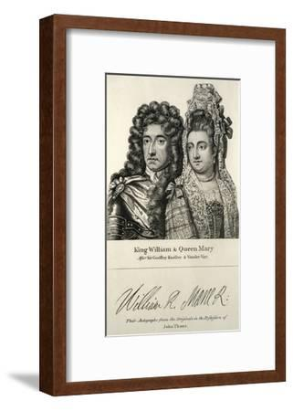 King William and Queen Mary Engraving--Framed Giclee Print