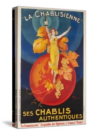 La Chablisienne, Ses Chablis Authentiques, French Wine Poster--Stretched Canvas Print