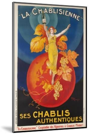 La Chablisienne, Ses Chablis Authentiques, French Wine Poster--Mounted Giclee Print