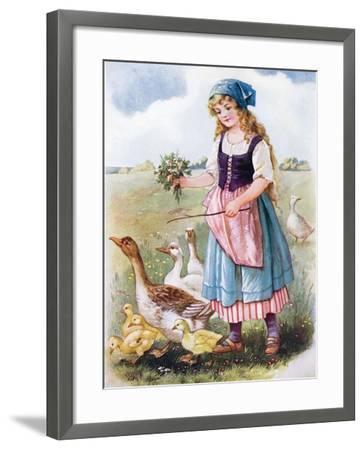 The Goose Girl--Framed Giclee Print