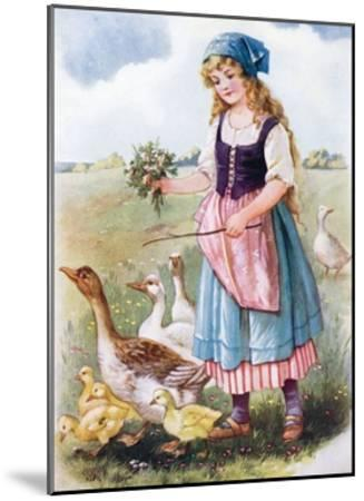 The Goose Girl--Mounted Giclee Print