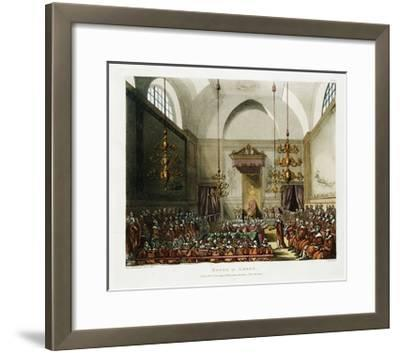 The House of Lords Color Print after Pugin and Rowlandson--Framed Giclee Print