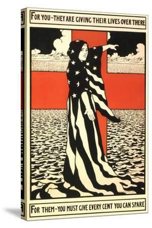 War Propaganda of Bond Sales--Stretched Canvas Print