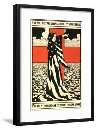 War Propaganda of Bond Sales--Framed Giclee Print