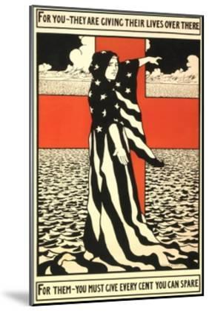 War Propaganda of Bond Sales--Mounted Giclee Print