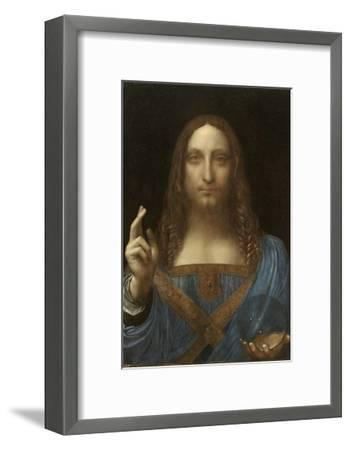 Salvator Mundi Attributed to Leonardo Da Vinci--Framed Premium Giclee Print