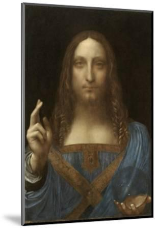 Salvator Mundi Attributed to Leonardo Da Vinci--Mounted Premium Giclee Print