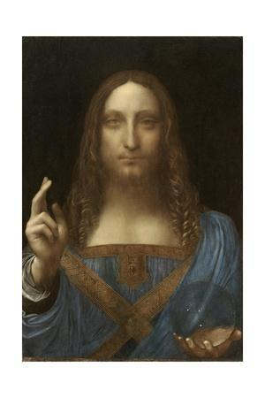 Salvator Mundi Attributed to Leonardo Da Vinci--Giclee Print