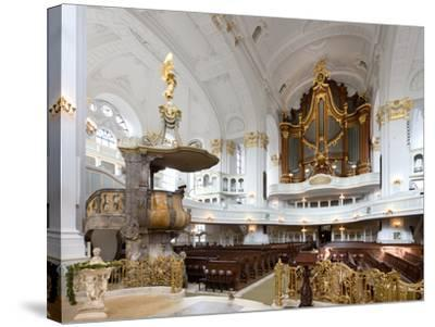 West-Facing of Steinmeyer Organ in St Michaelis Church, Hamburg, Germany-Andreas Lechtape-Stretched Canvas Print