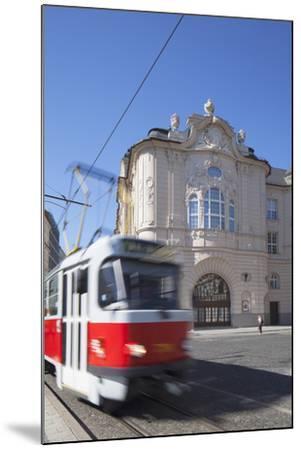 Tram Passing Reduta Palace, Bratislava, Slovakia-Ian Trower-Mounted Photographic Print