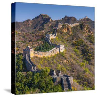 China, Hebei Province, Luanping County, Jinshanling, Great Wall of China-Alan Copson-Stretched Canvas Print