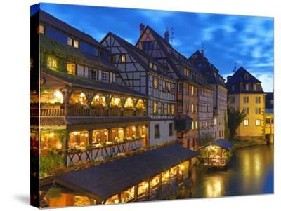 France, Alsace, Strasbourg, La-Petite-France-Shaun Egan-Stretched Canvas Print