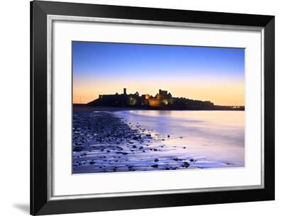 Peel Castle at Dusk, St. Patrick's Isle, Isle of Man-Neil Farrin-Framed Photographic Print