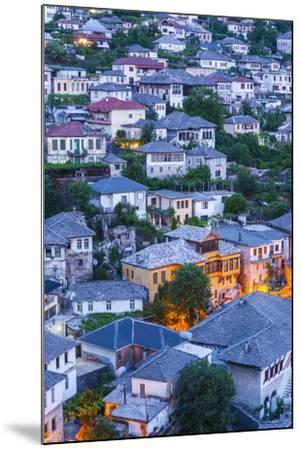Albania, Gjirokastra, Elevated View of Ottoman-Era Houses, Dawn-Walter Bibikow-Mounted Photographic Print