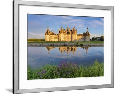 France, Loire Valley, Chateau De Chambord, Detail of Towers-Shaun Egan-Framed Photographic Print