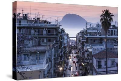 Greece, Peloponese Region, Patra, Elevated City View over Agios Nikolaos Street-Walter Bibikow-Stretched Canvas Print