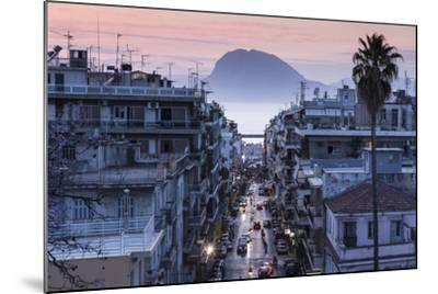 Greece, Peloponese Region, Patra, Elevated City View over Agios Nikolaos Street-Walter Bibikow-Mounted Photographic Print