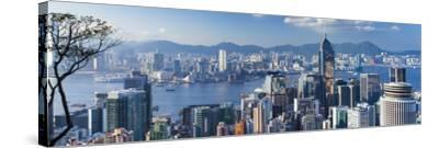 View of Wan Chai and Kowloon, Hong Kong-Ian Trower-Stretched Canvas Print