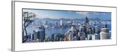 View of Wan Chai and Kowloon, Hong Kong-Ian Trower-Framed Photographic Print