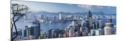 View of Wan Chai and Kowloon, Hong Kong-Ian Trower-Mounted Photographic Print