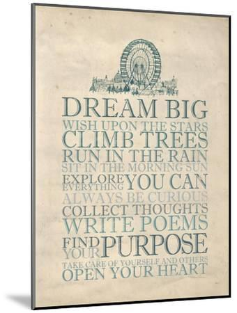 Dream Big-Morgan Yamada-Mounted Art Print