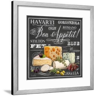 Gourmet Cheese Collection-Chad Barrett-Framed Art Print