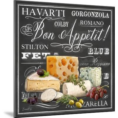 Gourmet Cheese Collection-Chad Barrett-Mounted Art Print