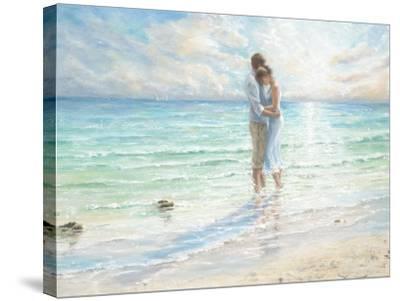 Seaside Embrace-Karen Wallis-Stretched Canvas Print