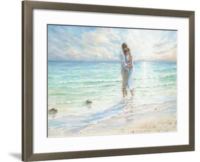 Seaside Embrace-Karen Wallis-Framed Art Print